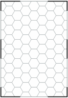 Geomorph with 8 columns of 10 vertical hexes and 6 connecting positions
